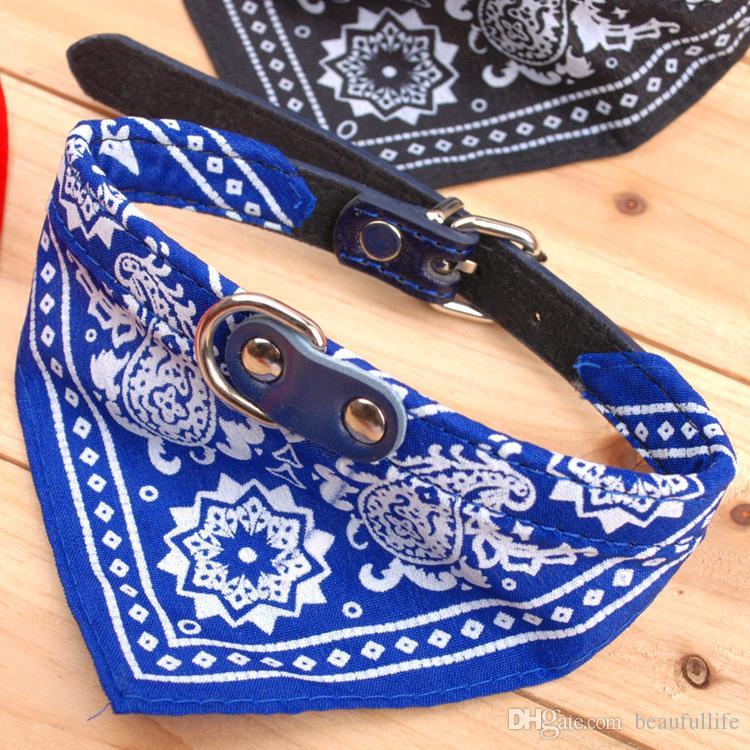 Собака воротник свинца регулируемая собака кошка шарф бандана ошейники ошейник шелков новой смесь цвета собак ошейники