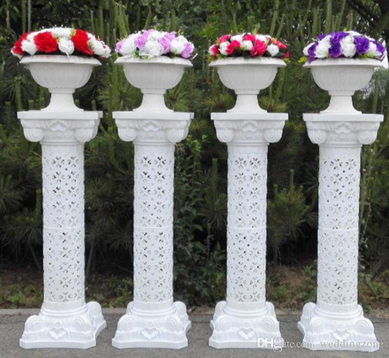Plastic Rome Column Height 38 Inch[98 CM] Roman Road Lead FRP Columns For Wedding Mall Opened Props