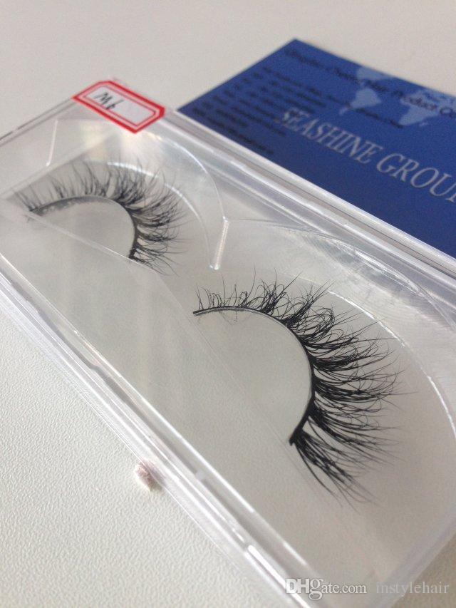 3D Doğal Gür Çapraz Yanlış Eyelashes Vizon Saç El Yapımı Göz Lashes Büyüleyici Kirpik Uzantıları Fabrika toptan