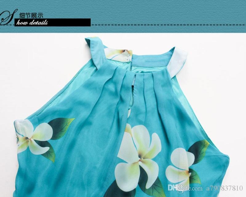 Plus Size Dress Summer 2017 New haute qualité mode vêtements pour femmes Big yards XL-7XL imprimé en mousseline de soie robes de soirée les femmes s'habillent longue NYC205