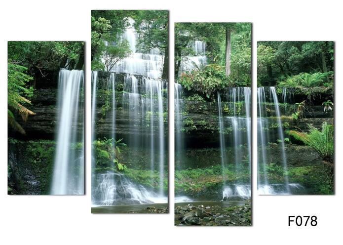 Großhandel Natur Wasserfall Landschaftsplakat, Große Moderne Segeltuch Wand  Dekoration Für Innenministerium, Grüner Waldduschen Foto Druck Kein Rahmen  Von ...