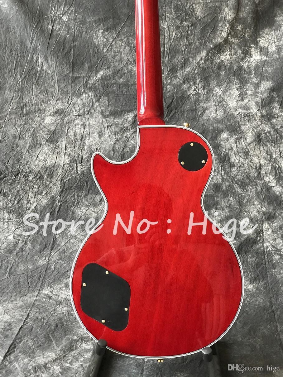 In stock- Custom Chitarra elettrica in colore Cherry burst con top in acero Flame, guitarra, tutti i colori sono disponibili, guitarra di alta qualità
