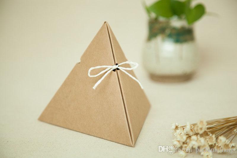 11 * 13 cm Triângulo Caixas De Papel De Doces de Chocolate Caixas De Embalagem Caixa De Presente De Casamento Favor de Aniversário Frete grátis ZA3879
