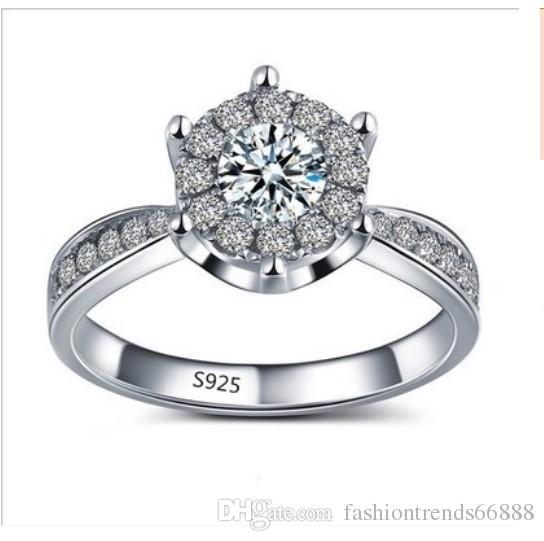 5e00441cc New Elegant Engagement Ring S 925 ALE 52 Diamond Crystal Ring Finger Joint  For Women Wedding Jewelry Set Fashion Bride Lover Jewelry Sets Ruby Rings  Pearl ...
