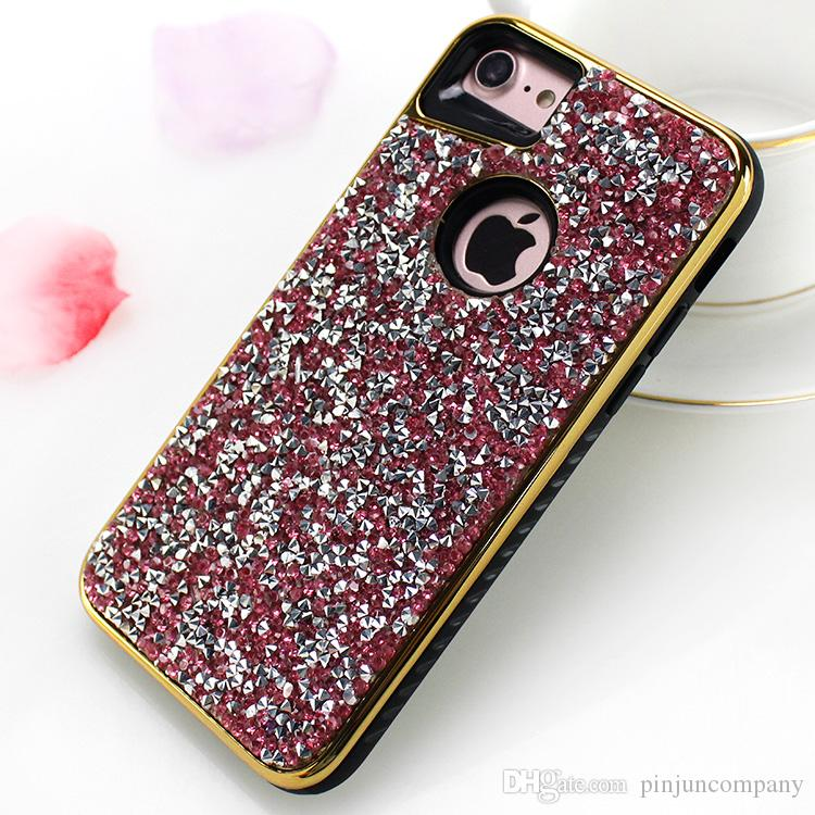 For LG V5/lv5 /K10 2017/ K20 plus Stylo 3 plus Aristo LV3 V3 2 IN 1 plating paste leather resin drill Case