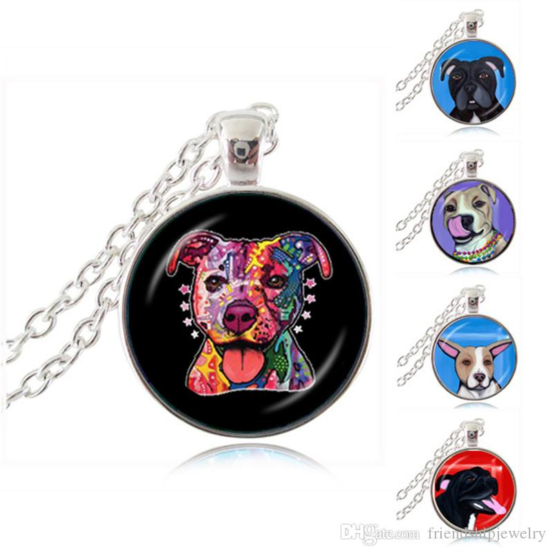 Wholesale pit bull dog necklace american pitbull terrier pet puppy wholesale pit bull dog necklace american pitbull terrier pet puppy rescue pendant bulldog jewelry for animal lover accessories silver bangles silver locket aloadofball Gallery