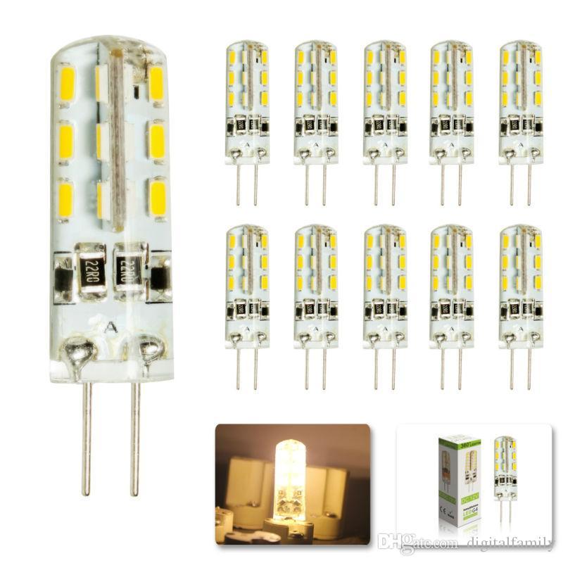 Hot Sales SMD3014 G4 3W 4W 5W 6W LED Corn Crystal lamp light DC12V /AC 110V 220V LED Bulb Chandelier 24LED 32LED 48LED 64LEDs Crystal lamp