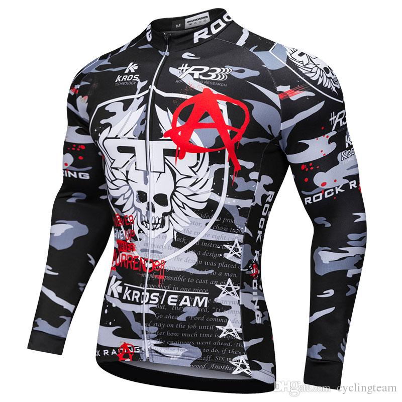 ROCK NEW Cycling Jerseys Winter Thermal Fleece Long Sleeve Men ... 35fd3ac7b