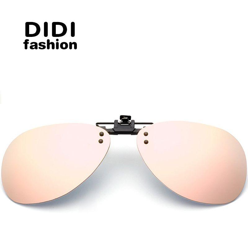 Didi Aviator Polarized Clip On Sunglasses Women Men Rimless Frame ...