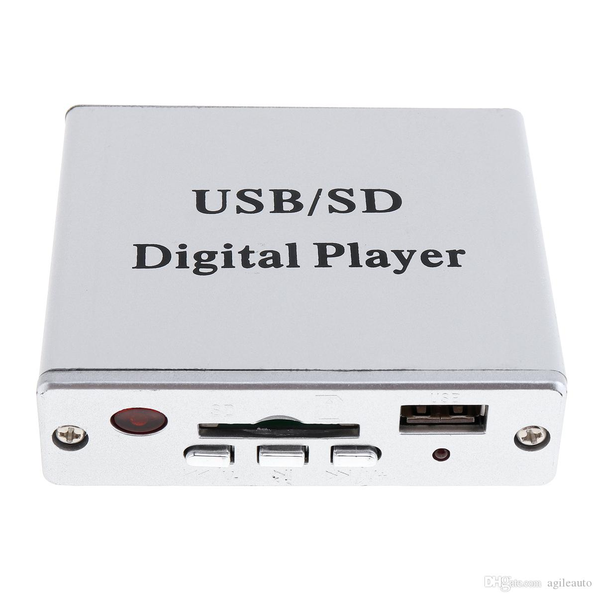 DC 12V Digital Auto Car Power Amplifier MP3 Audio Player Reader 3-Electronic Keypad Control Support USB SD MMC Card with Remote CEC_806