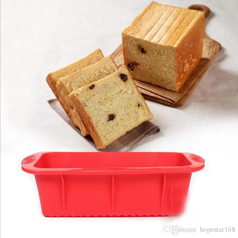 Non-Stick Platz Silikonform Kuchenform Backenwerkzeuge Für Kuchen Hitzebeständige Brot Toast Form Dandys