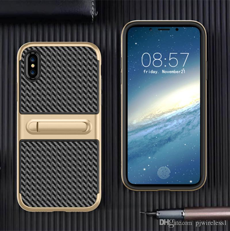 Custodia Ibrida Defender Custodia Ibrida antiurto Samsung Galaxy Note 8 iPhone X 8 Custodia antiurto con copertura cavalletto A