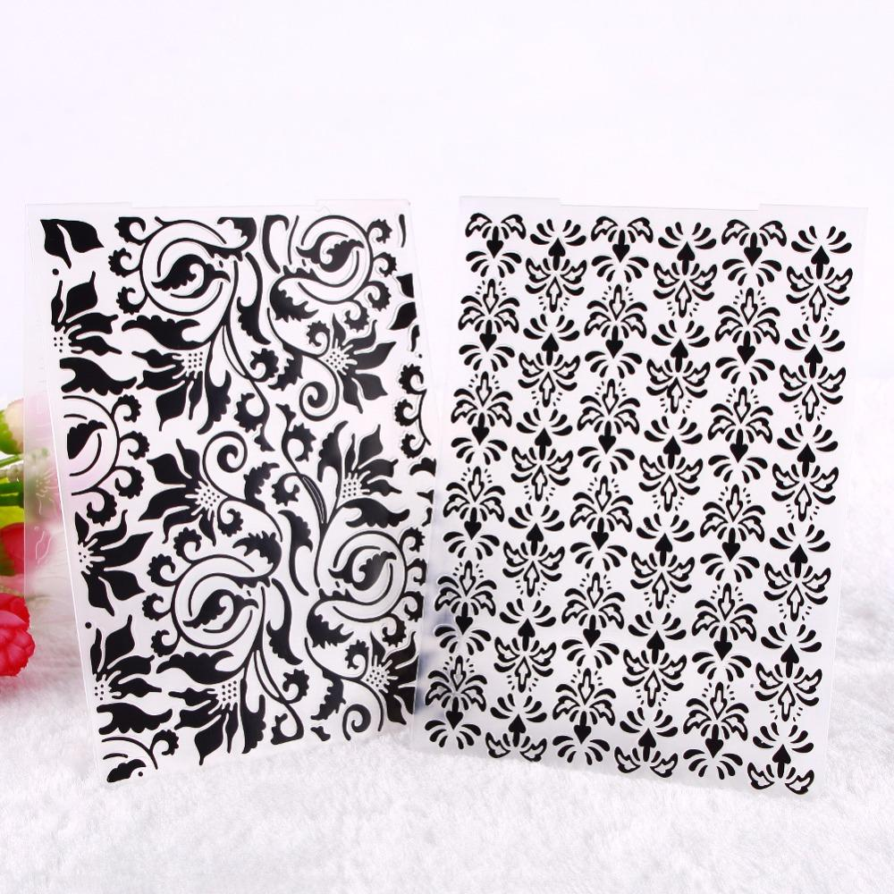 Wholesale New Plastic Flower Embossing Folder Stamps Template ...