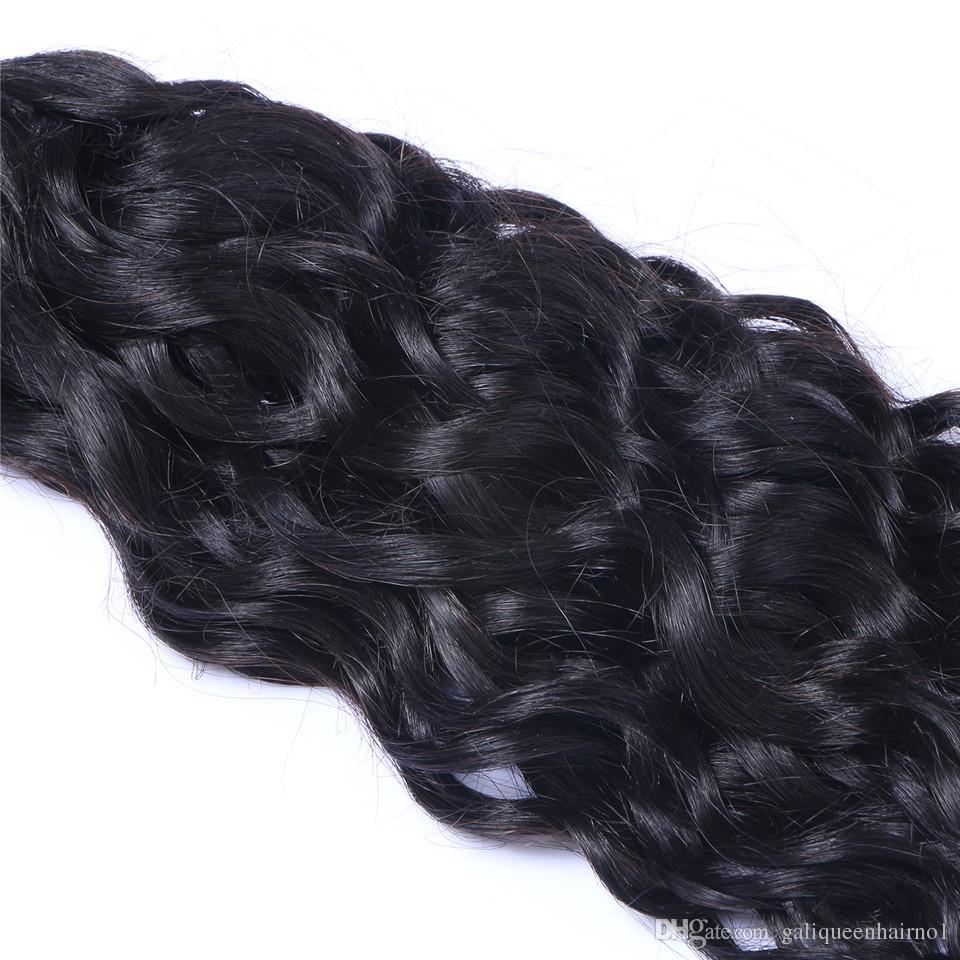 Malaysisches reines Menschenhaar-natürliche Wellen-Wasser-Wellen-unverarbeitetes Remy-Haar spinnt die doppelten Schussfäden 100g / Bündel 1bundle / die gefärbt werden können, die gebleicht werden