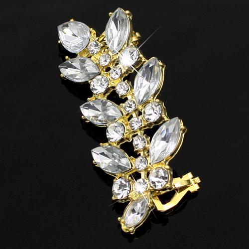 Classic Design style punk cristal clip Boucles d'oreilles strass Feuilles d'oreille 5UGH 6SCJ 7IZ3