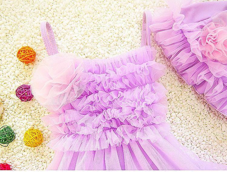 Kids Girls Bikini Swimwear Baby Girls Lace Swimsuit Toddler One-Piece Dress + Hat Set 2017 Princess Bathing Tankini Beach Clothes B143