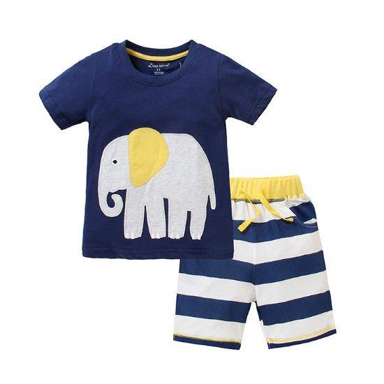 2018 Hot Sale Baby Boy Clothes Two Pieces Set Cotton Cartoon