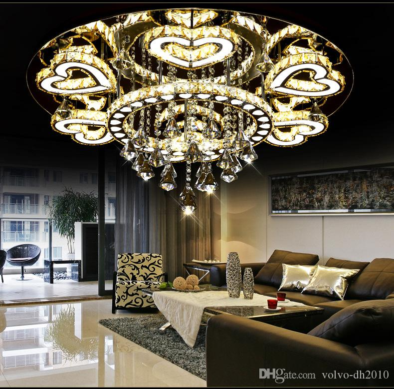 Luxury modern lustre de cristal ceiling led chrome chandelier mirror luxury modern lustre de cristal ceiling led chrome chandelier mirror steel romantic acrylic heart design chandelier light llfa white chandelier orb aloadofball Images