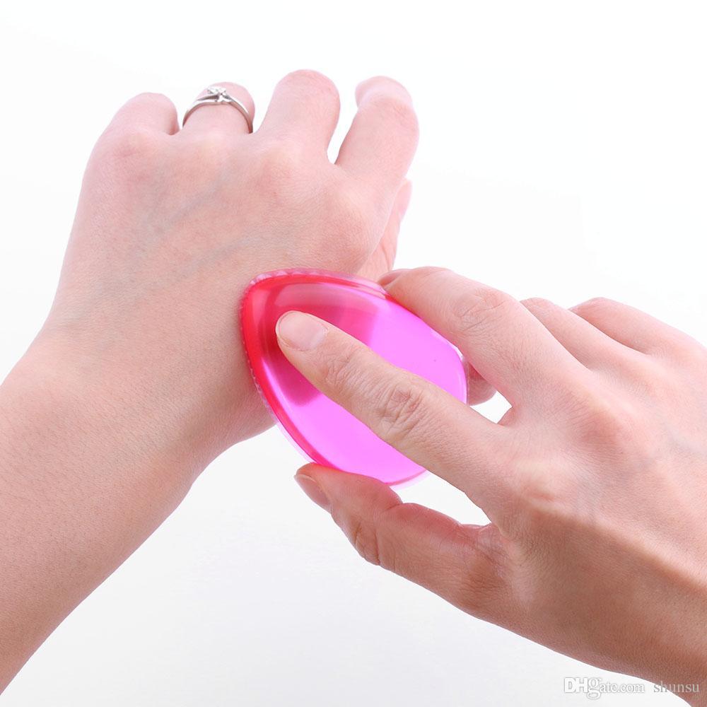 1 Stück Neue Weiche Silikon Gel Frauen Gesicht Foundation Make-Up Schönheit Kosmetische Puderquaste Foundation BB Creme Werkzeug