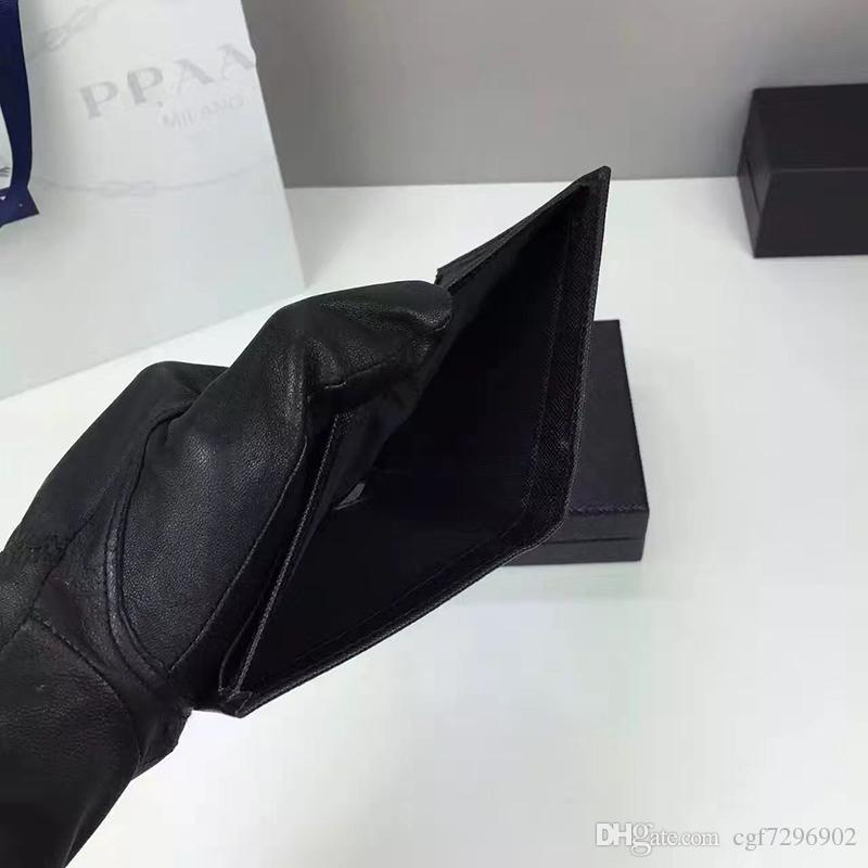 Top qualidade mini carteira marca de alta qualidade Realmente pacote de cartão de bolso de couro na dobra de pacote de cartão de crédito original importado