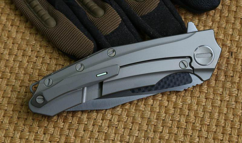 KEVIN JOHN VENOM ATTACKER Roulement À Billes Pliant Flipper Couteau M390 lame Titanium fibre de carbone poignée camp chasse survie en plein air couteaux outils
