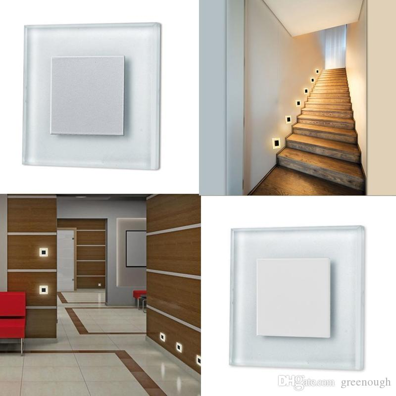 2.5W 185-265V LED Recessed Wall Lamp 2835SMD LED Step Light Deck Stair Light LED Night Light for indoor