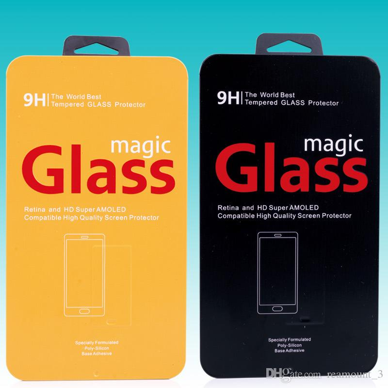 high quality tin packing BOX for Tempered glass protector screen protecBOX tor for iphone5s 6 6 Plus