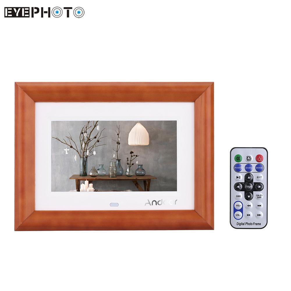 Großhandel Großhandels Andoer 7 Lcd Digital Fotorahmen Desktop Holz ...