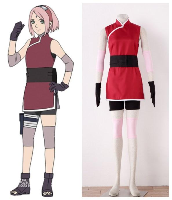 Naruto The movie The last Sakura Uchiha Ninja outfit Cosplay Costumes