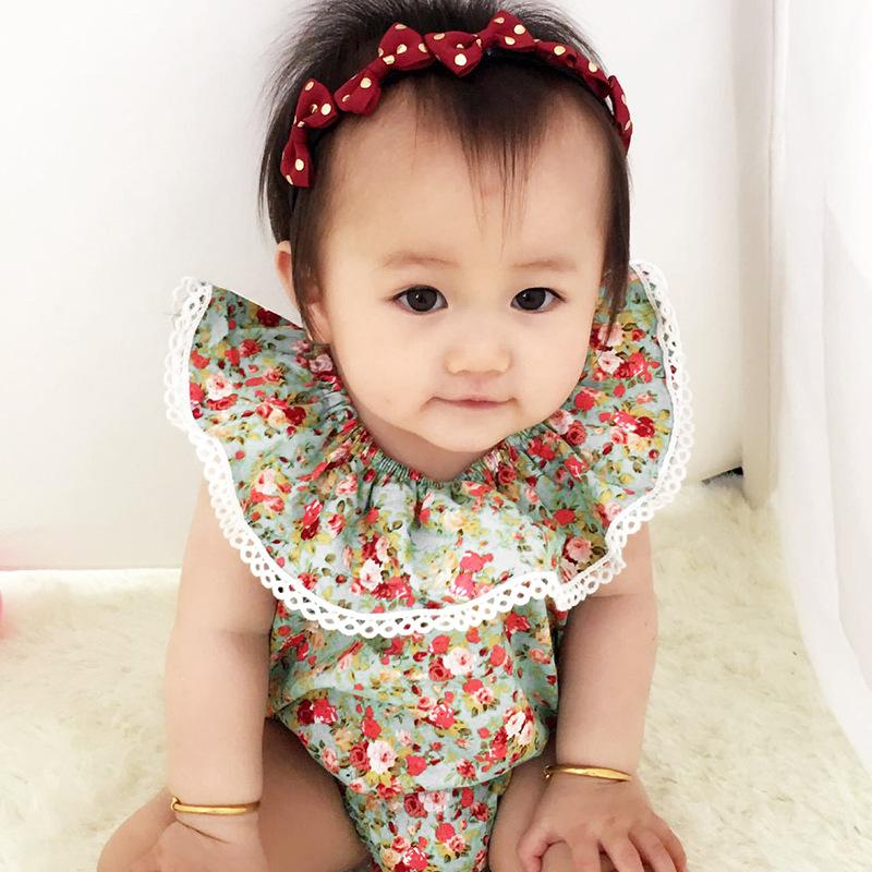 17e76c48715 2019 HUG ME 2017 INS Hot Baby Girl Infant Toddler Kids Summer Clothes  Clothing Flower Floral Romper Diaper Covers Bloomers Bodysuits Jumpsuits  From ...
