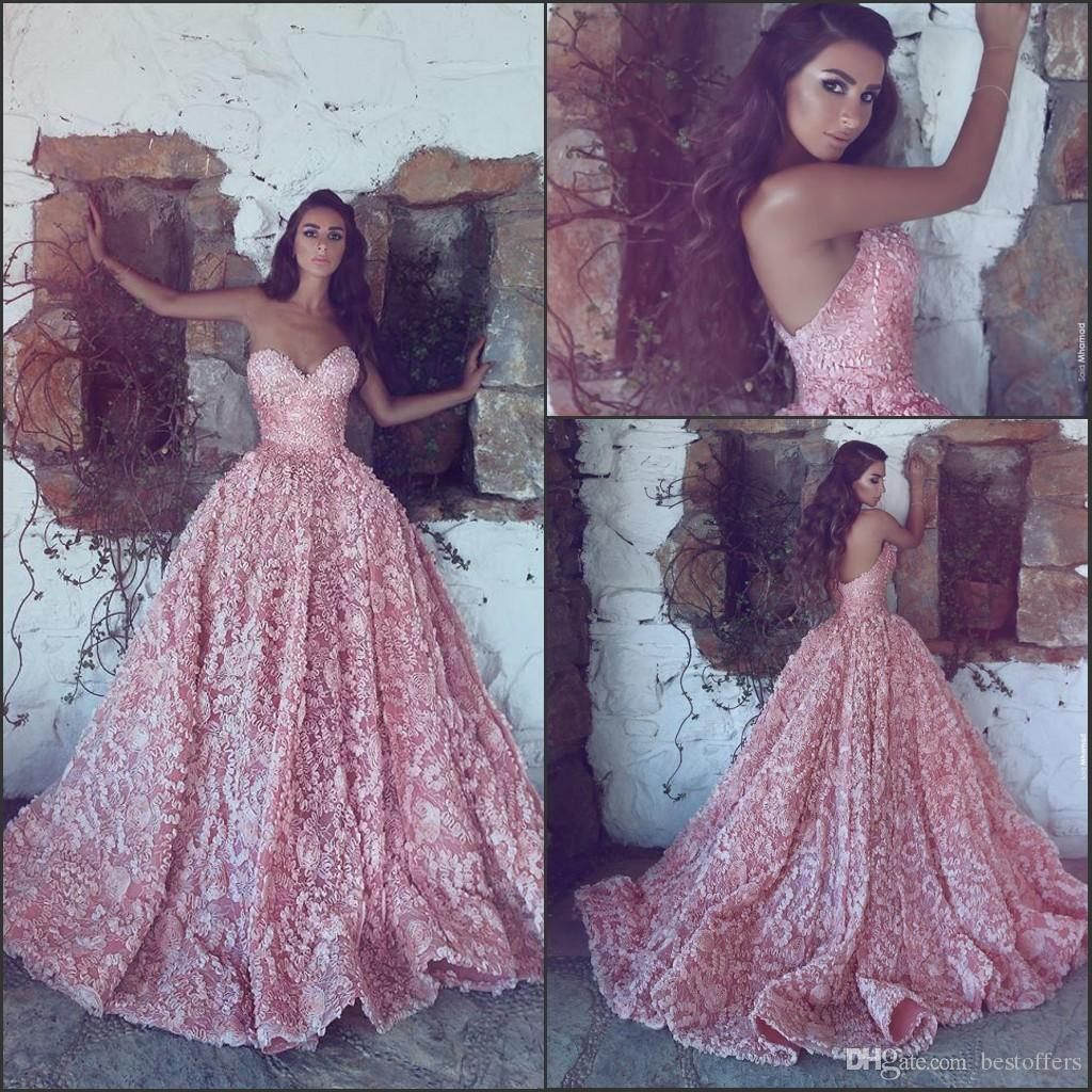 Blush Pink Ball Gowns Prom Dresses 2018 New Sweetheart ...