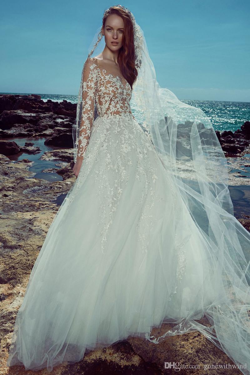 Discount Long Sleeve Beach Wedding Dresses 2017 Zuhair Murad Bridal ...
