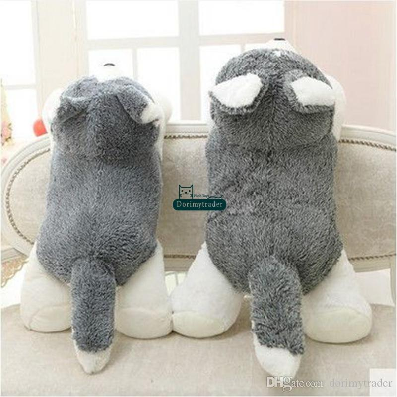 Dorimytrader New Hot 100cm Giant Cute Simulated Animal Husky Plush Toy Big Stuffed Cartoon Dog Doll Pillow Baby Gift DY61608