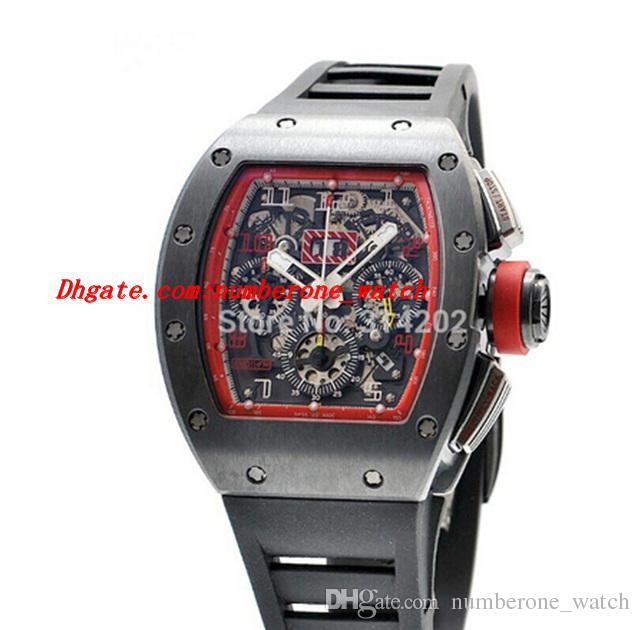 Luxury Watches New 011 Felipe Massa Singapore Grand Prix Automatic Black Rubber Strap Mens Watch Wristwatches