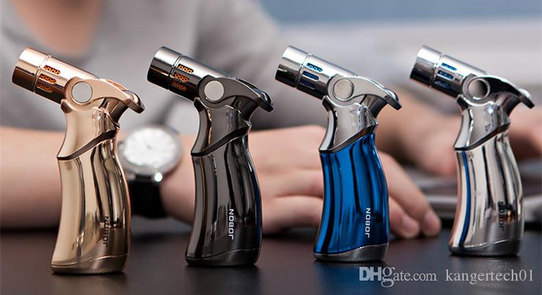 Refill Butane Torch Jobon cigarette Lighter Tool Spray Gun Jet Flame with retail packaging New arrival high quality