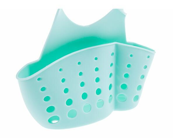new multipurpose adjustable colorful pvc kitchen sponge cleaning cloth shelf storage rack holder organizador
