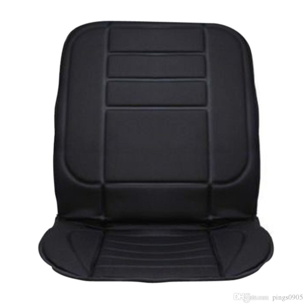 Black Car Heated Seat Cushion Cover Auto 12V Heating Heater Warmer Pad Winter Seat Cover Temperature Control