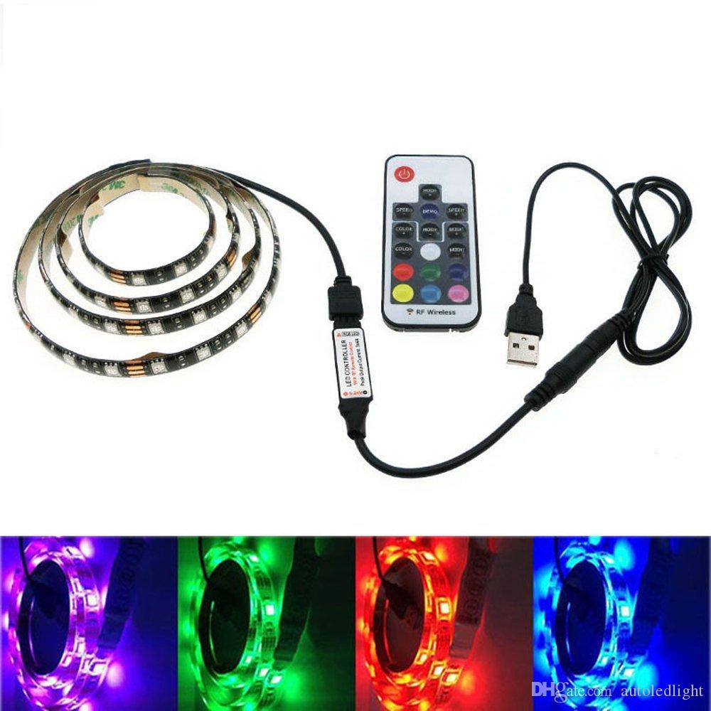 5050 dc 5v rgb led strip waterproof 30ledm usb led light strips 5050 dc 5v rgb led strip waterproof 30ledm usb led light strips flexible neon tape 1m 2m add remote for tv background super bright led strips thin led mozeypictures Image collections
