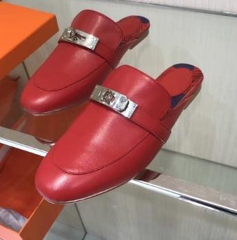 di alta qualità ~ rosso nero u733 40 molti colori veri muli cinghia di cuoio piana dei sandali bianco