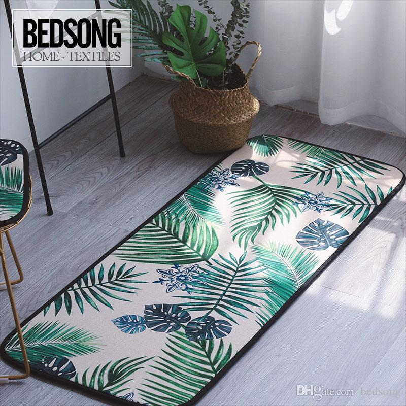 Bedsong Modern Style Living Room Bedroom Carpet A Long Strip Shaped Baby Climbing Mats Cotton And Flax Blended 50145cm Commercial Grade Shaw