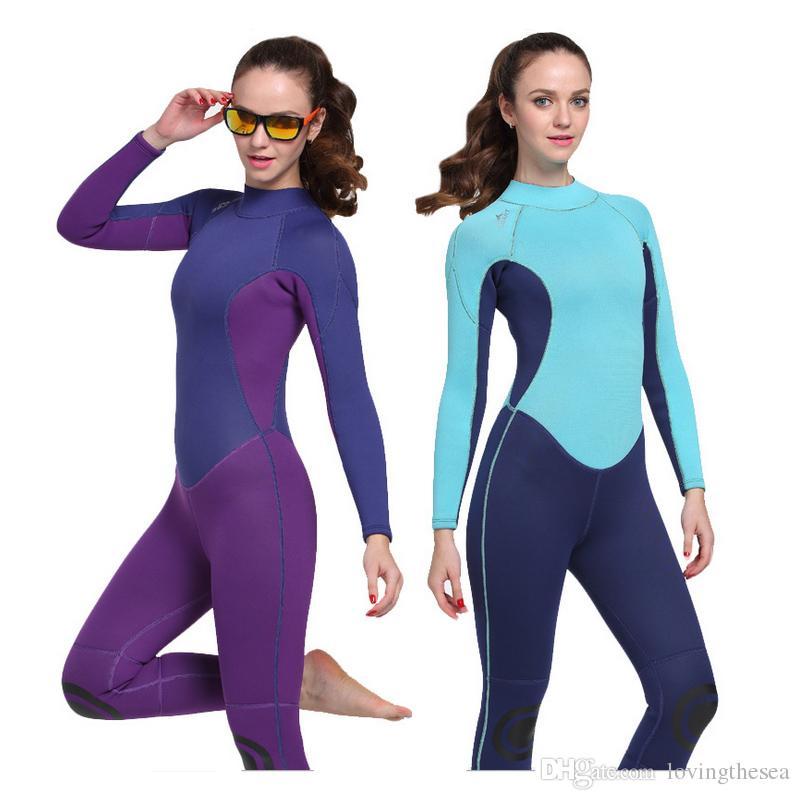 Compre Traje De Neopreno Para Neopreno Para Mujer Traje De Buceo Protección  Térmica UV Para Bucear Buceo Snorkeling Surf SpearFishing A  58.3 Del ... 54df687e923