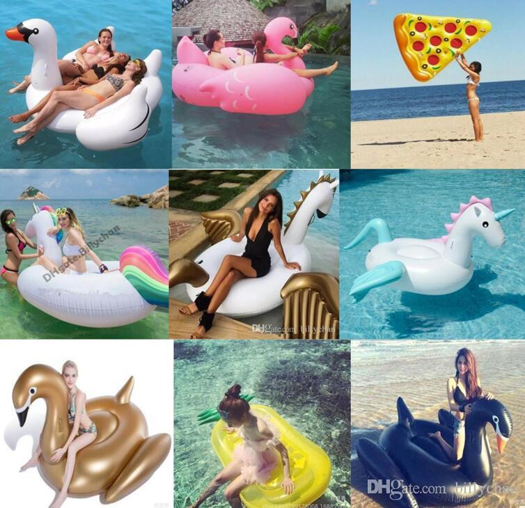 Best quality inflatable floats inflatable unicorn flamingo for Large size inflatable swimming pool