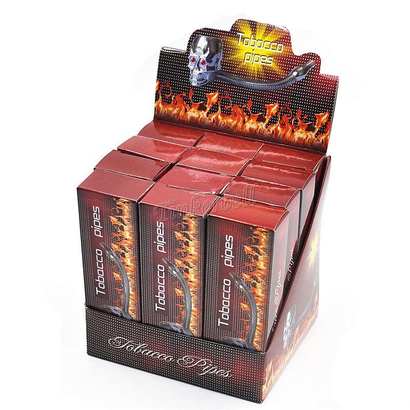 Форма черепа металлические курительные трубки Раста reggae трубы светодиодные 3 цвета flexional flectional курительные трубки табак трубы сигареты курительная трубка магия