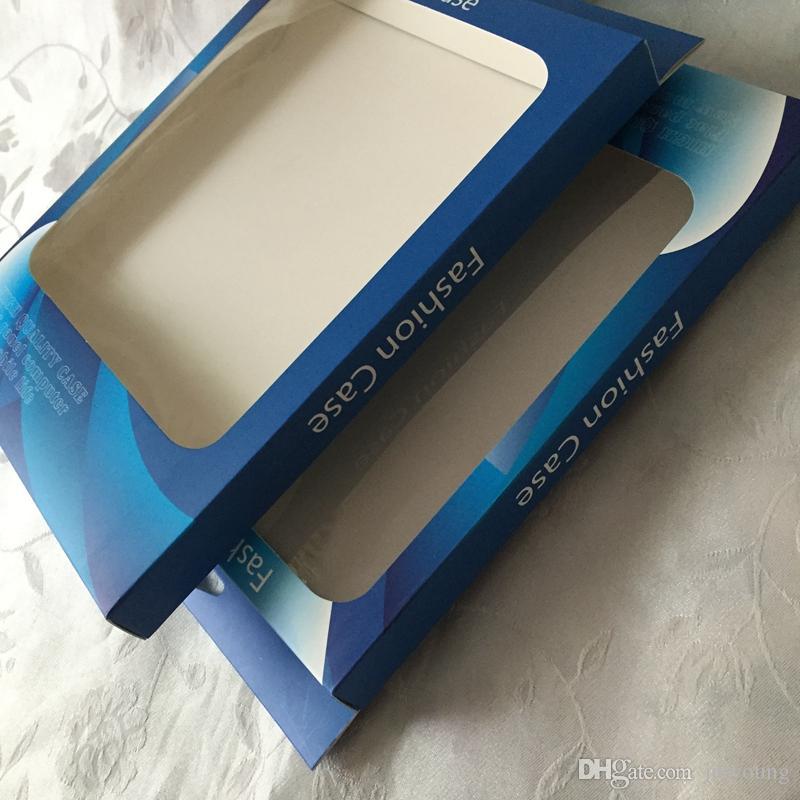Moda Perakende Paketi Için Fit Ipad 2 3 4 / Hava Hava 2, iPAD 5 6 Tablet Deri Kılıf Asmak Evrensel Kağıt + PVC PC Ambalaj Kutu Çantalar Cilt