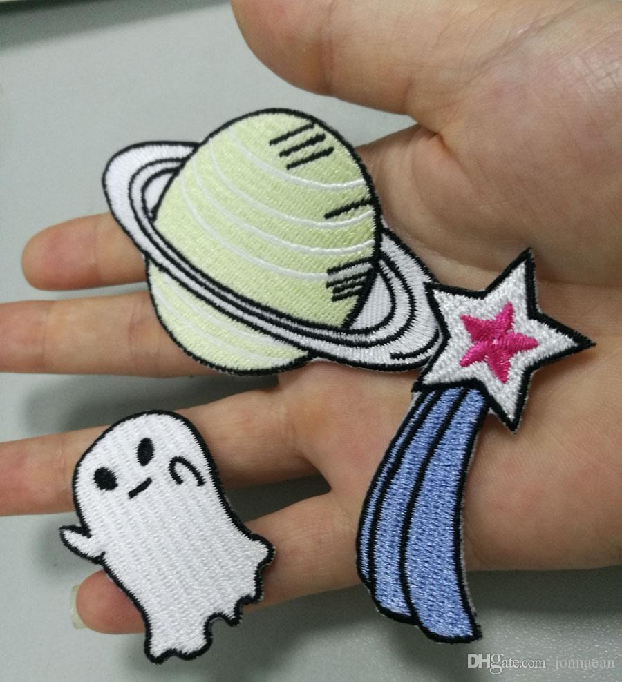Cute Mix Style Cartoon star Iron On Patches Embroidery Patches For Clothing Jacket Bag Hat Appliques High Quality