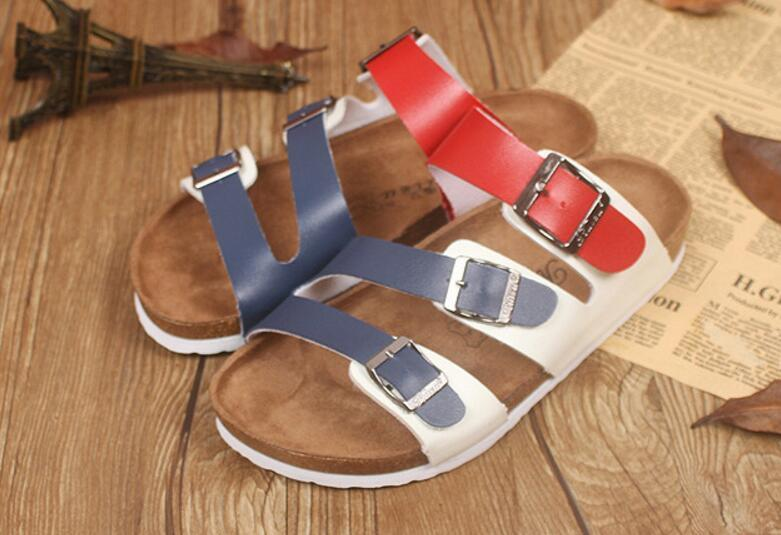81e0b537c54d84 New Summer Beach Cork Slippers Sandals Casual Double Buckle Clogs ...