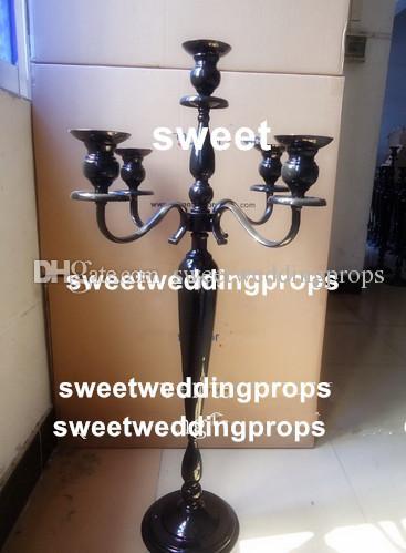 Neues Design 5 Arme weißer Kerzenständer für Hochzeitsdekoration Mittelstücke
