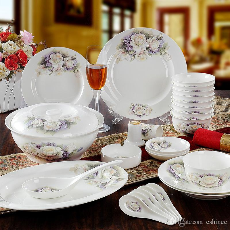 Hot Sale Porcelain Tableware AliceFine Bone China Dinner Set/Dish Sets Dinnerware Sets For 8 Stoneware Dinnerware Sets For Cheap From Eshinee ... & Hot Sale Porcelain Tableware AliceFine Bone China Dinner Set/Dish ...