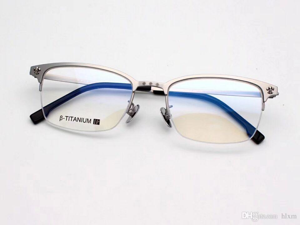 e0e39b70bf0 2017 Hot Famous Glasses Designer Men S Business Fashion Four Color Glasses  Frame FERRAN Luxury Pure Titanium Eyeglasses Frame UK 2019 From Hlxm