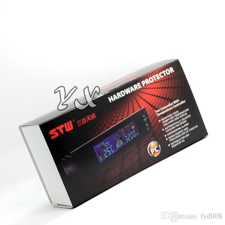 Контроллер вентилятора STW-5023 Регулятор скорости вращения вентилятора Передняя панель корпуса оптического привода 3-контактный 12В компьютерный радиатор, термостаты